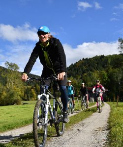 Biergarten Radeln, leichte Biketour durch den Isarwinkel und Mountainbiketouren