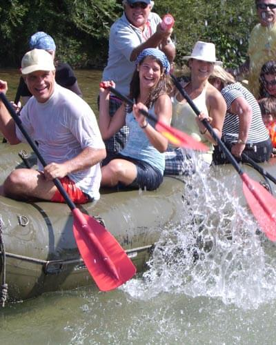 Betriebsausflug Schlauchbootfahren