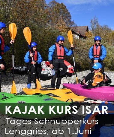 Kajak Kurs an der Isar für Einsteiger
