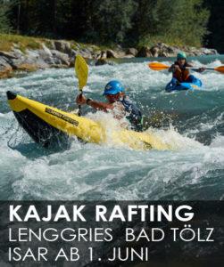 Kajak Rafting Wildwasser