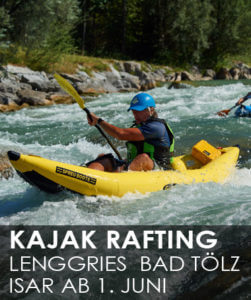 Sit on Top Kajak Tour | Tubing Isar | Wildwasser Rafting