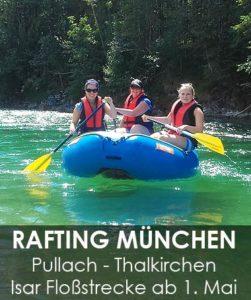 Rafting München Bootstour Pullach nach Thalkirchen