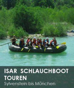Schlauchboot Isar Bootstouren, Bootfahren Isar München, Bayern