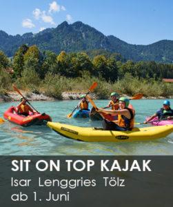 Sit on Top Kajak fahren