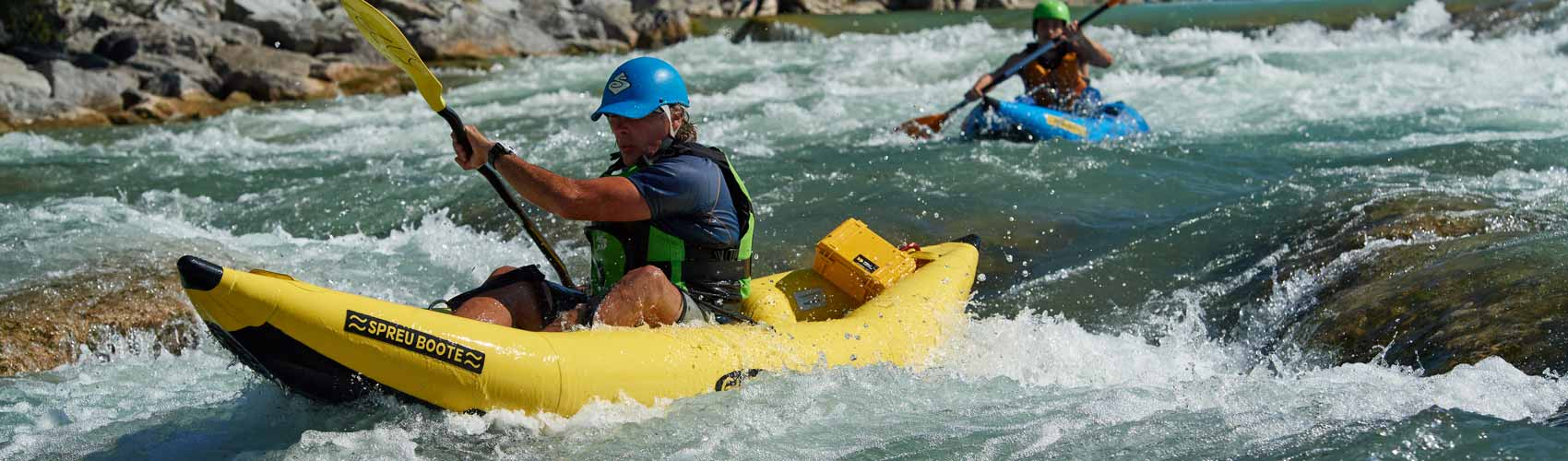 Sit on Top Kajak Rafting Wildwasser