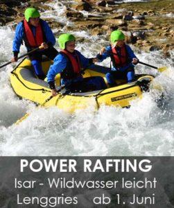 Isar Power Rafting Raft für 3-5 Personen